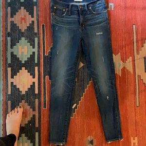 "Madewell 9"" high-rise skinny jean Japanese denim"